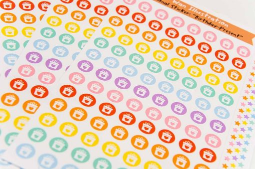 Birthday Present Planner Stickers