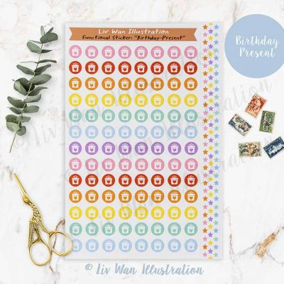 Birthday Present Planner Stickers