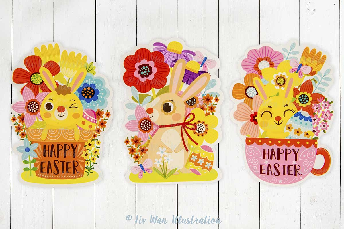 Easter Bunny Spring Postcards