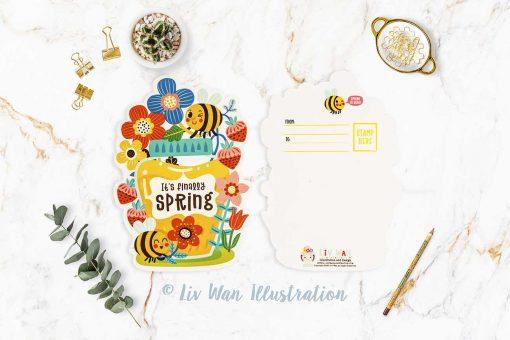 Finally Spring Postcard