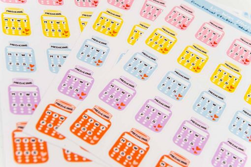 Medicine Tracker Planner Stickers
