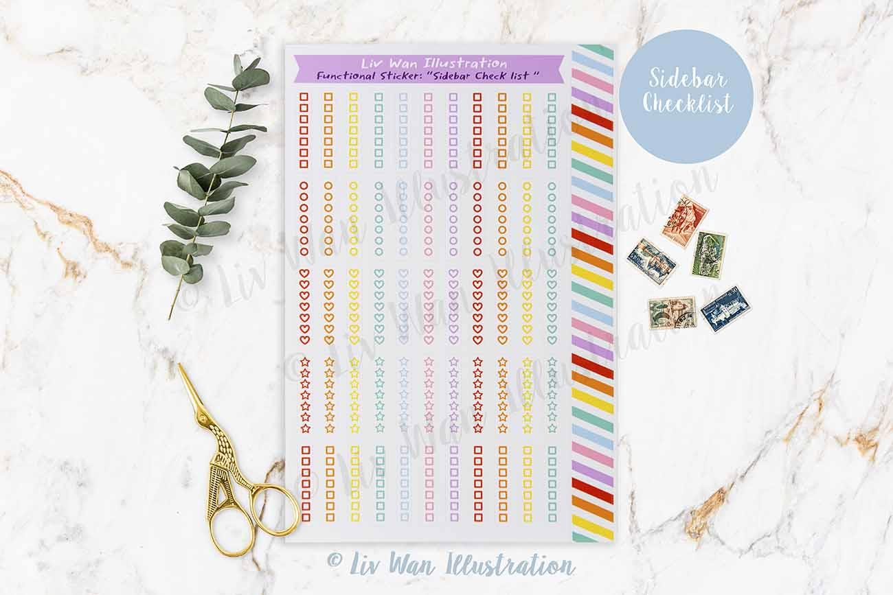 Sidebar Checklist Planner Stickers