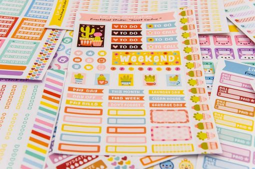 Sweet Cactus Planner Stickers