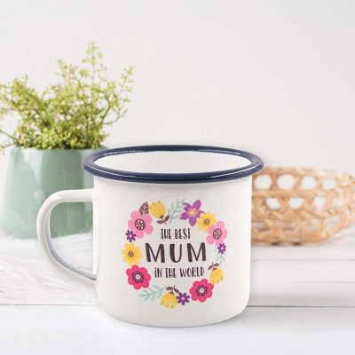 Best Mum In The World Enamel Mug