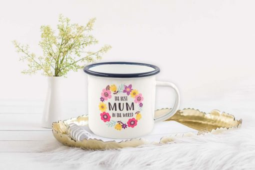 Best Mum In The World Enamel Mug