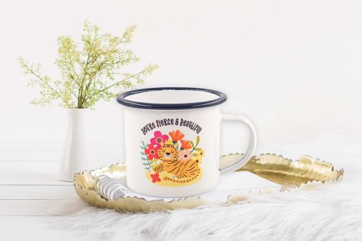 Fierce and Beautiful Mothers Day Mug