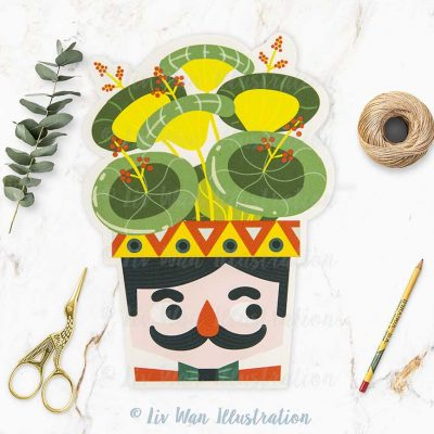 Moustache Plant Lovers Postcard
