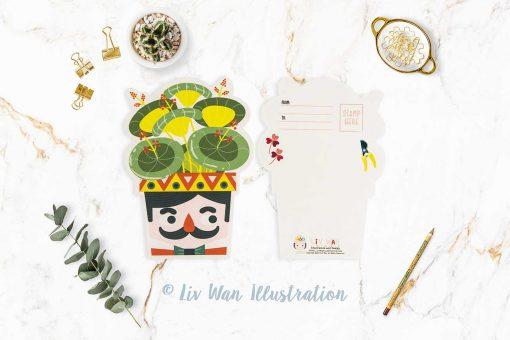 Moustache Plant Lovers Postcard