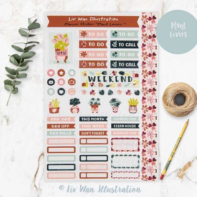 Plant Lovers Planner Stickers