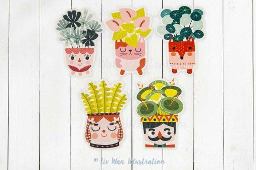 Plant Lovers Postcards