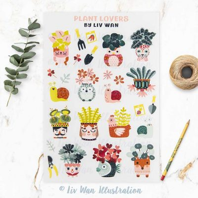 Plant Lovers Sticker Sheet