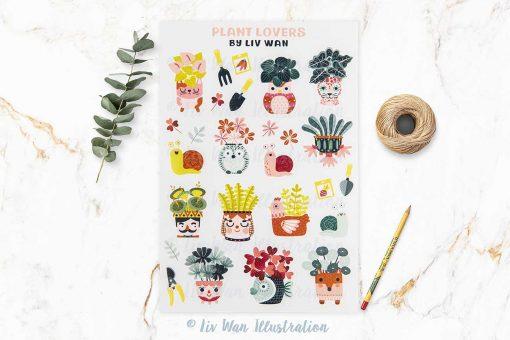 Plant Lovers Sticker Sheet