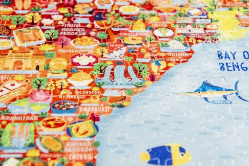 India Map Jigsaw Puzzle detail