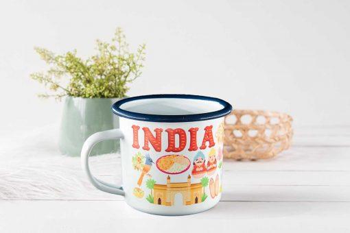 India Enamel Mug
