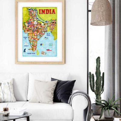 India Map Poster