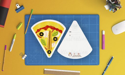 Anchovy Pizza Postcard