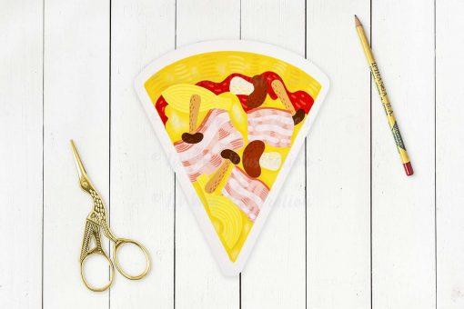 Pizza Capricciosa Postcard