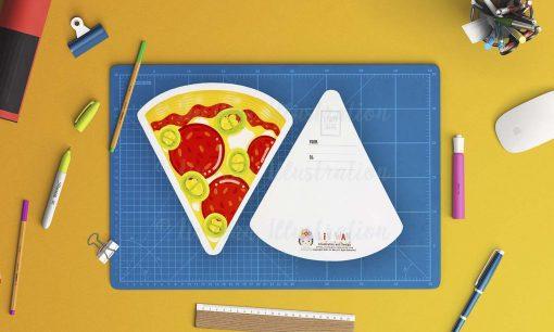Pizza alla Diavola Postcard