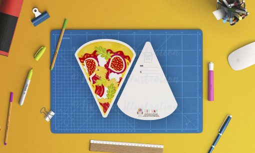 Pizza e fichi Postcard