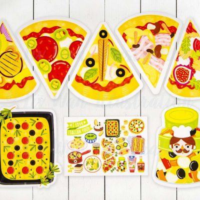 i love italian food postcard collection