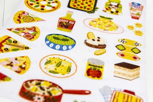 I Love Italian Food Sticker Sheet