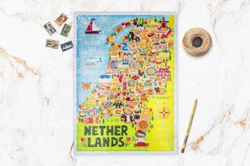 Netherlands Map Jigsaw Puzzle