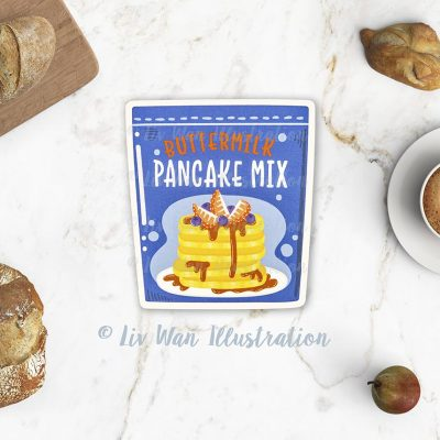 Pancake Mix Postcard