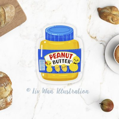Peanut Butter Jar Postcard