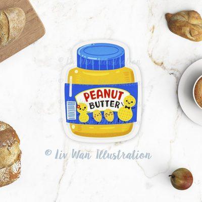 Peanut Butter Jar Postcard