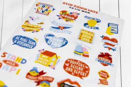 Stop Asian Hate Sticker Sheet