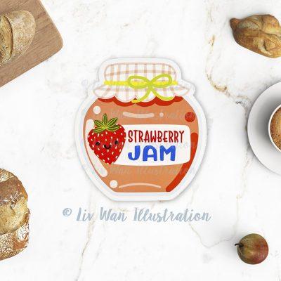 Strawberry Jam Postcard