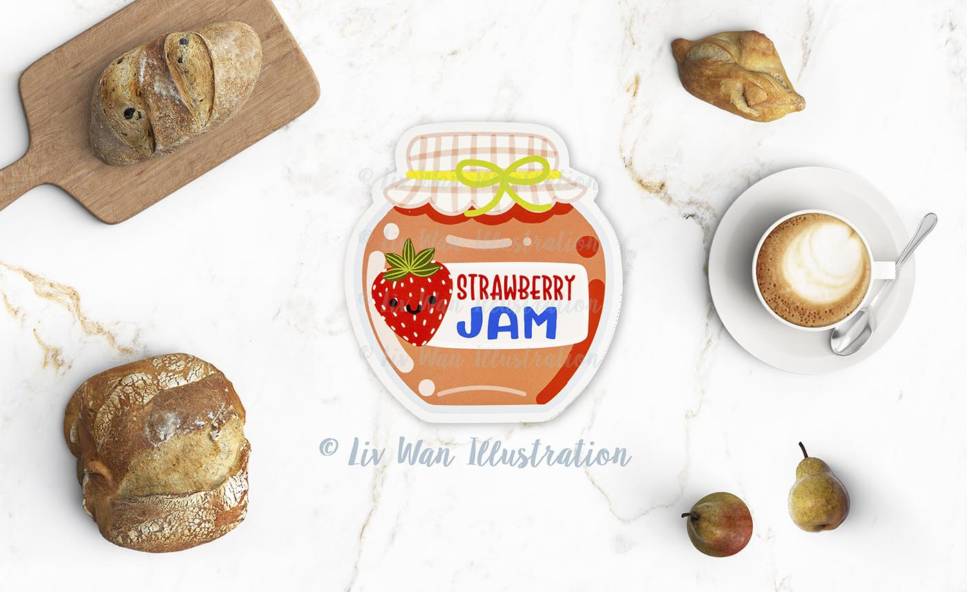 Strawberry Jam Postcard