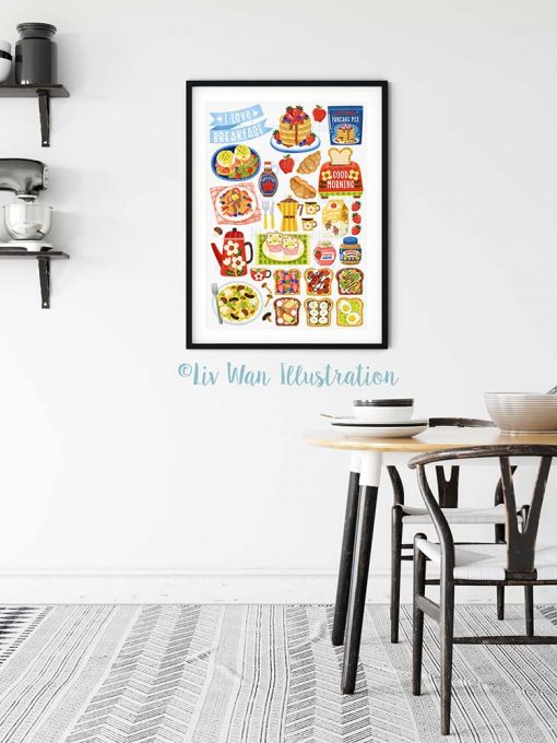 I love Breakfast Food Poster
