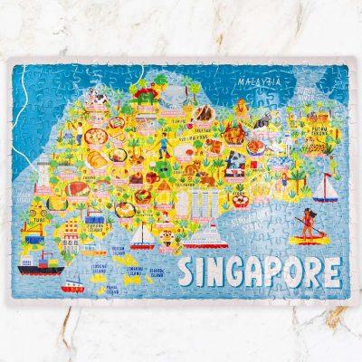 Singapore Map Jigsaw Puzzle