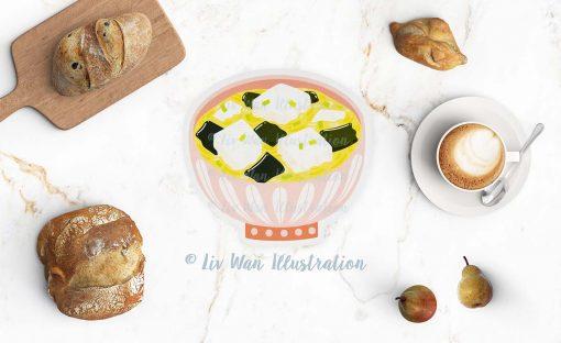 Miso Soup Postcard