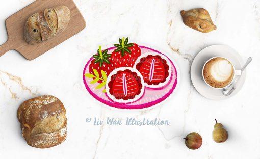 Strawberry Daifuku Postcard