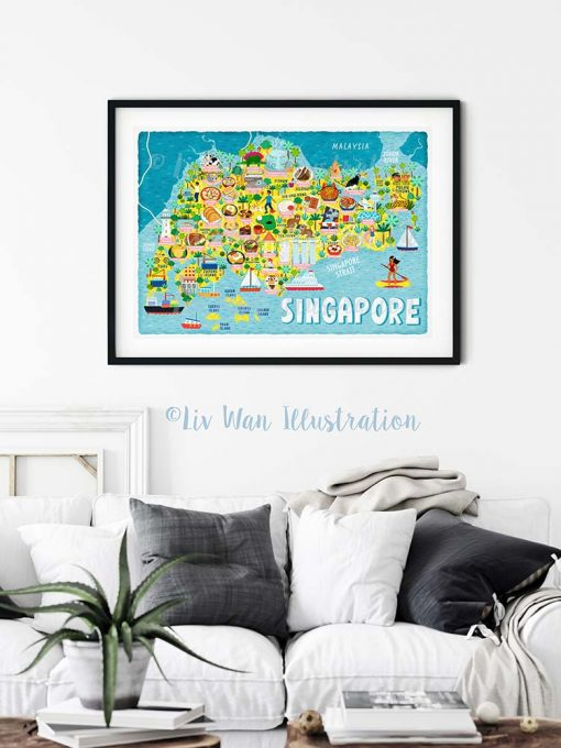 Singapore Map Poster