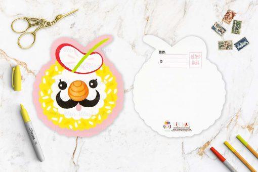Artist Roll Sushi Shaped Postcard