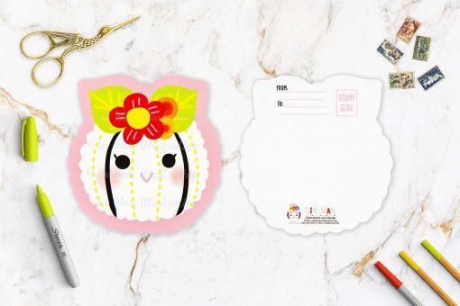 Flower Sushi Shaped Postcard