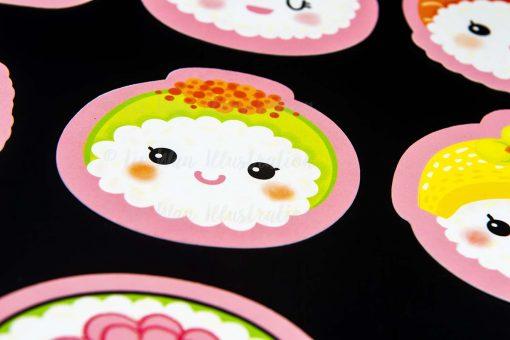 Kawaii Sushi Shaped Postcards