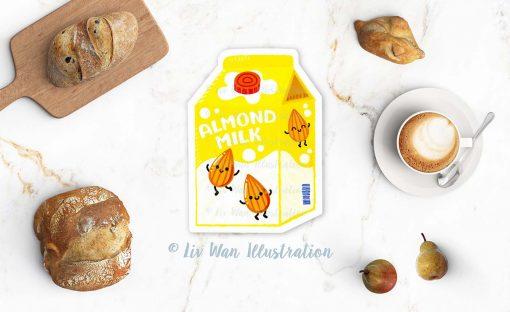 Almond Milk Postcard