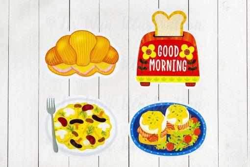 breakfast postcards