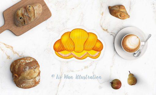 Croissant Postcard