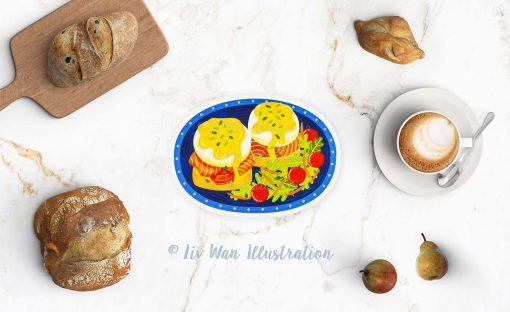 Eggs Benedict Postcard