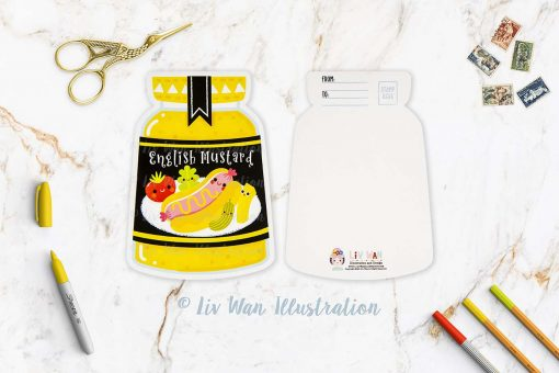 English Mustard Postcard