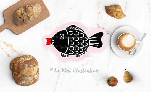 Fish Soy Sauce Postcard