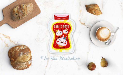 Garlic Mayo Postcard