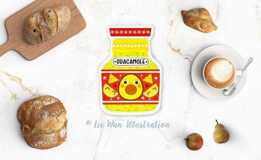 Guacamole Postcard
