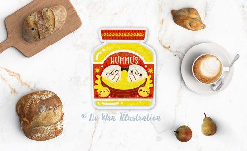 Hummus Postcard
