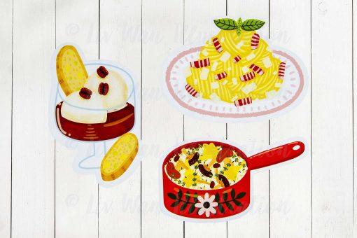 italian food postcard